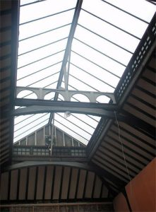Area 1 - Glazed ceiling removed, exposing 1950's glazed roof