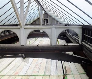 Area 1 - High level view of roof and structure, prior to removal