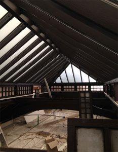 Gallery roof interior