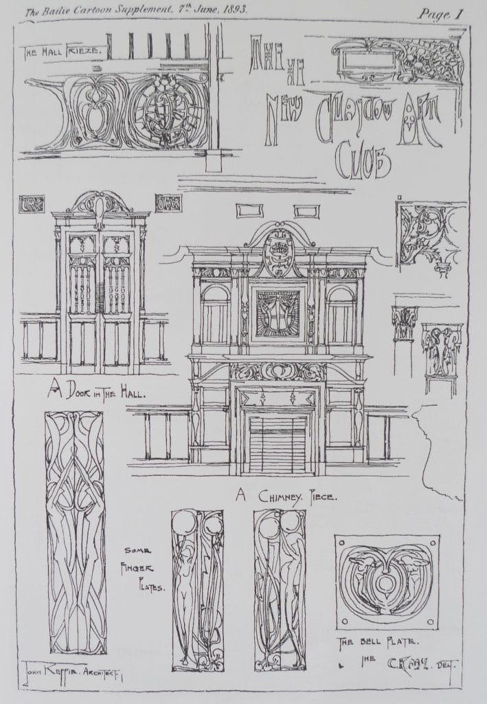 Charles Rennie Mackintosh Glasgow Art Club