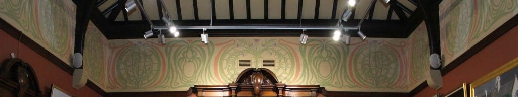 The Charles Rennie Macintosh frieze in the Gallery at the Glasgow Art Club