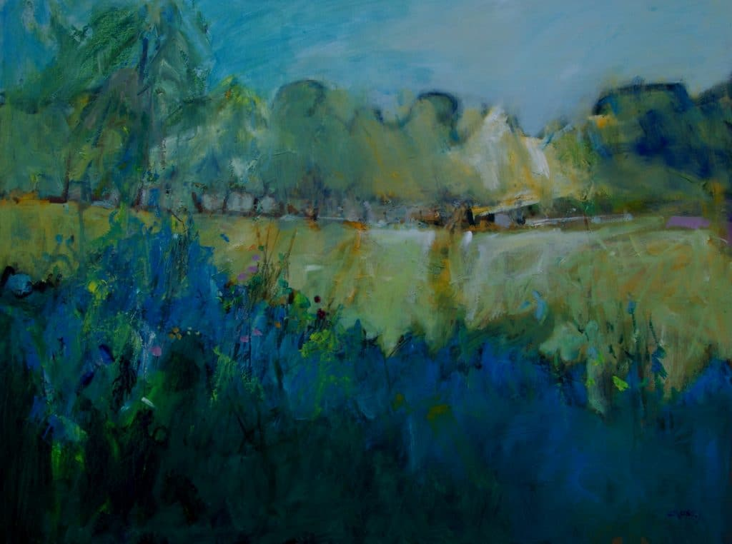 A Summer's Evening, Oil, 32X40 (framed),  £3,000